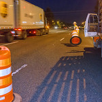 Barrels separate traffic thumbnail