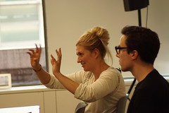 Beatrice Fihn at the ICAN campaigners meeting. Photo: Xanthe Hall