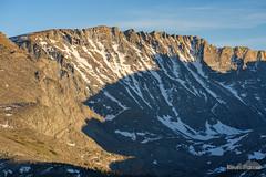 Sawtooth Ridge (kevin-palmer) Tags: cloudpeakwilderness highlandpark bighornmountains bighornnationalforest wyoming nikond750 nikon180mmf28 telephoto sawtoothridge evening sunset snowcapped sunlight gold golden backpacking alpine