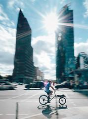 Speed. (manganlundin) Tags: street streetphoto streetphotography berlin potsdamerplats bike cycle city traffic blur speed olympus