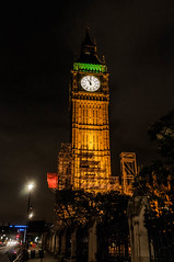 11:00 PM (Victor Dvorak) Tags: bigben clocktower elizabethtower westminsterpalace london uk england unitedkingdom nikon d300s 20mmf28d nightphotography gothicrevival