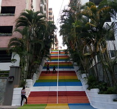 Ibague, Parque Centenario, Stairs, Colorful Stairs,