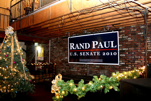 Rand Paul sign in Rookie's Entrance
