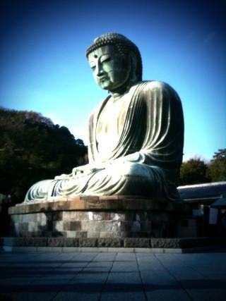 鎌倉の大仏。数年前、セカンドライフでプロモーションした時に鎌倉の大仏を造ったのを思い出した。 #apbnoff