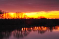 Le Grand Bras (wandalouzy) Tags: sunset sky cloud france nature clouds soleil nikon europe skies coucher ciel nuage nuages loire fleuve maineetloire d700 chalonnes