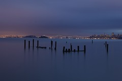 Moods of LIght #3 of 3 - Sausalito, Ca (Rich Capture) Tags: sanfrancisco california wood sea lighthouse seascape water sunrise landscape bay glow east richard wharf citylights baybridge alcatraz sausalito goldenhour tms tellmeastory richardmatyskiewicz matyskiewicz bueatifullight