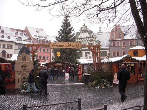 Weimars Christmas tree in Marketplatz