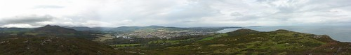 Panoramic view from Bray Head