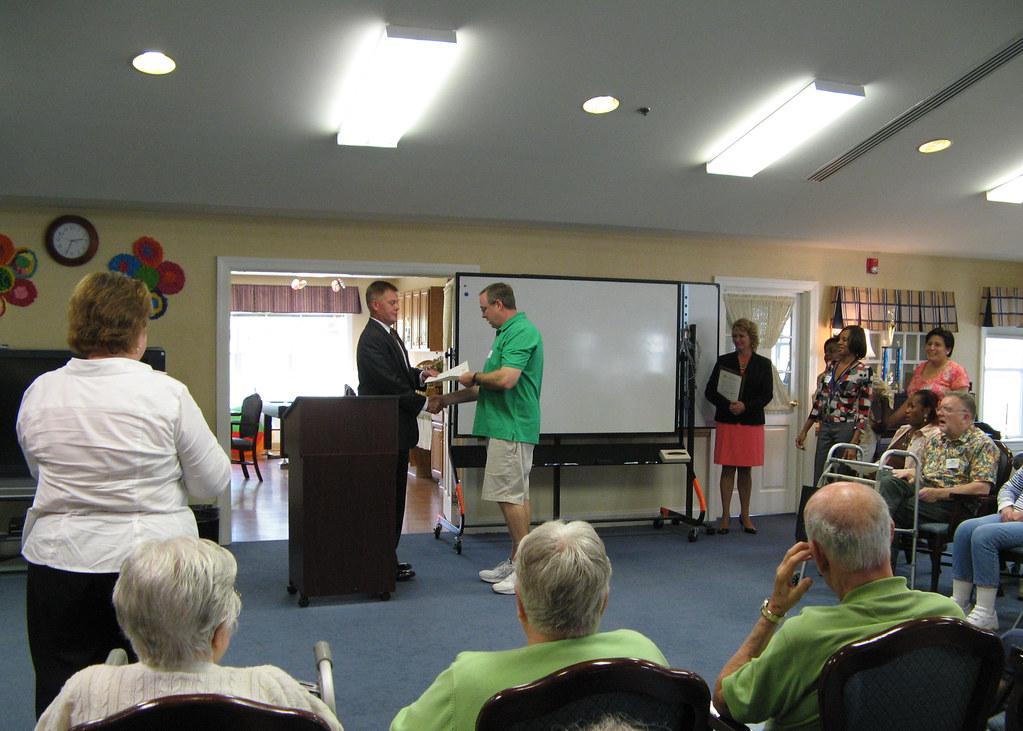 Fairfax County Supervisor John Cook at Braddock Glen, an Adult Day Health Care Program