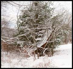 Vanishing... (edenseekr) Tags: winter nystate farmmachinery