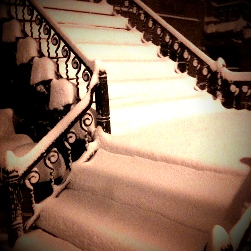 Snow-filled Steps