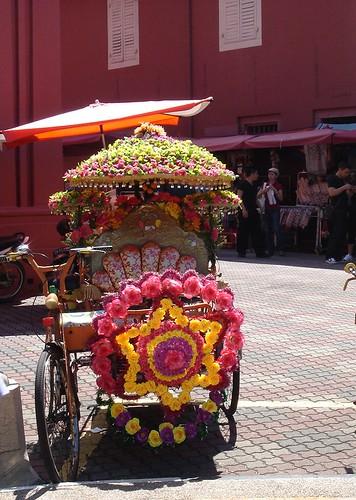 DSC01752 A Decorated Trishaw 三轮车 ,Melaka