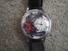 My winter watch (Gregelope) Tags: flowers colour glass beautiful silver watches handmade jewellery craftsmanship papercraft quilling craftwork