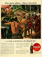 30563725 (The Advertising Archives) Tags: century ads advertising soft cola coke 1940s american soda cocacola advertisements coca forties nineteen fizzy 40s carbonated adverts twentieth nineteenforties