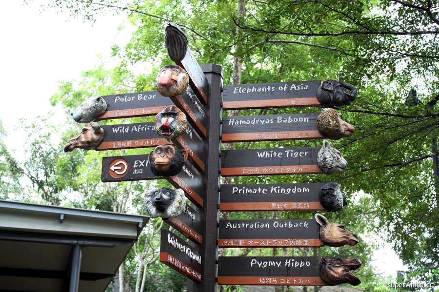 Singapore Zoo Sign