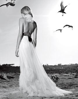 Romantic White Beachy Wedding Dresses Spring 2010