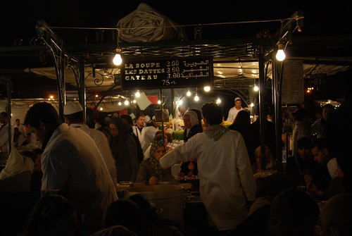 Harira stand at Place Djemaa el Fna