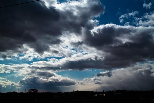 フリー写真素材, 自然・風景, 空, 雲, 暗雲, 日本,
