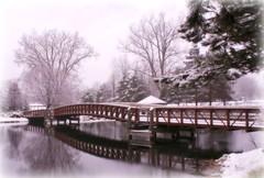 Bridge to Playground (Deb Malewski) Tags: bridge winter snow eatonrapids diamondclassphotographer flickrdiamond photofaceoffwinner photofaceoffplatinum likeitornotwinner pfogold dec07pfobrackets