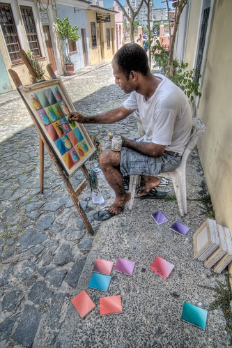 Painting Canvas in Pelourinho
