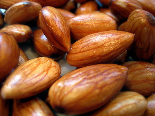 almonds close