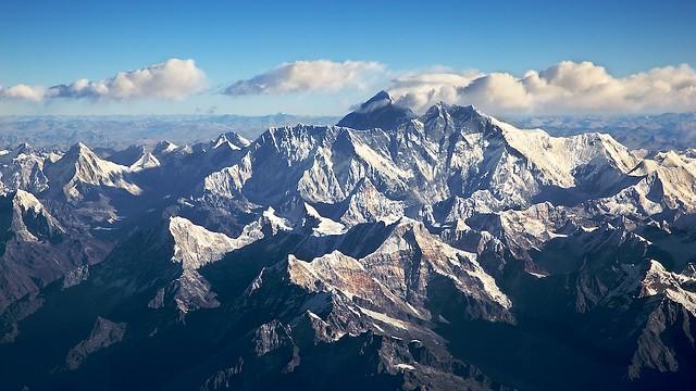 Mt. Everest, on leaving Bhutan