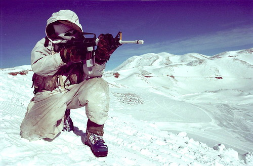 An Alpinist Practices Aiming
