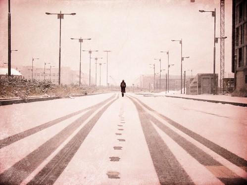 Misteriosos caminos sobre nieve