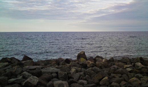 three layer scenery