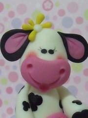 vaquinha (Alane • maria julia biscuit) Tags: cow handmade biscuit vaca fazenda fazendinha utilitário feitoamão mariajuliabiscuit