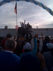 John McCain cheers us at the start line, srsly