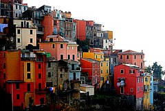 CoRnigLiA's CoLoRs  =0)) (Claudia Gaiotto) Tags: pink blue houses red italy orange green colors yellow liguria violet case corniglia 5terre pescatori