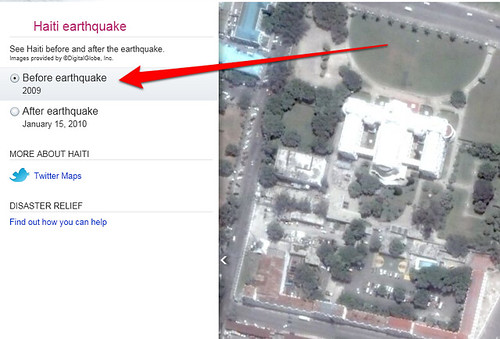 Satellite images of haiti earthquake from google bing maps bing maps before haiti earthquake image gumiabroncs Gallery