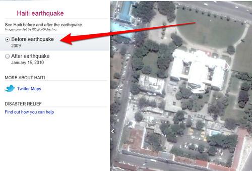 bing maps before haiti earthquake image