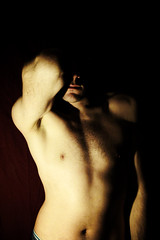 In the shadow (century_boy_too) Tags: shadow shirtless selfportrait man men me myself autoportrait chest ombre faceless torso torse i sansvisage