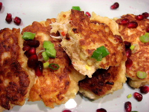 crab and corn fritters