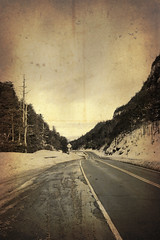 textured road (Explored!!) (veros222) Tags: road texture photoshop vanishingpoint photoshopped explore textured winterroad explored challengeyou challengeyouwinner oldpapertexture thechallengefactory