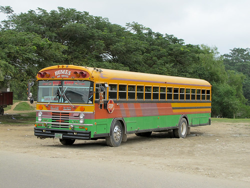 Chicken Bus in San Ignacio