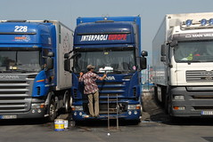 TRUCKING IN TANGIERS (Claude  BARUTEL) Tags: africa port truck boat harbour morocco containers scania tangiers