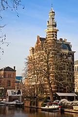 Golden winterlight (KennethVerburg.nl) Tags: winter snow holland netherlands dutch amsterdam architecture sneeuw nederland mokum architectuur 2010