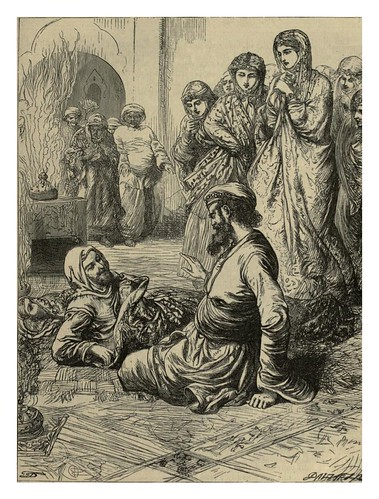 003-Abu Hasan gana las mil piezas de oro- T. Dalziel-Dalziel's Illustrated Arabian nights' entertainments (1865)