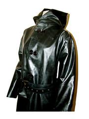 blackcoat03 (www.suziehigh.co.uk) Tags: black rain mac shiny coat rubber cotton raincoat rainwear sbr rubberized rubberised