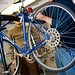 Student learn about bike maintenance.
