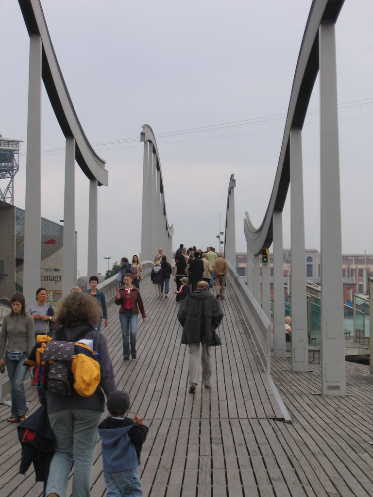 Pedestrian Bridge in Barcelona