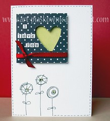 Valentine's Day Card 2 (Ula~) Tags: red love scrapbooking paper noir heart card etsy blanc valentinesday carte postalcard valentinescard ulaa cardlift