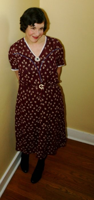 My Favourite Work-a-Day 1930s dress