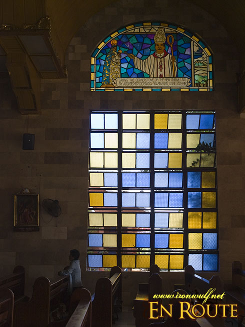 Piat Stained Glass and Devotee