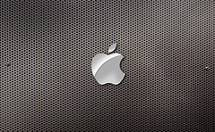 Apple Holes Background Desktop (Cliff_Baise) Tags: desktop history texture apple museum logo macintosh 3d aluminum screensaver background widescreen free optical screen science holes hires illusion intel fortworth