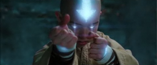Aang Air bending on The Last Airbender movie