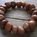 Amber Jade Nugget Semi Precious Stone Bracelet